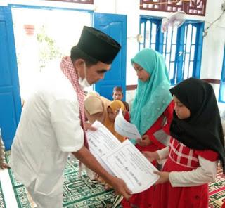Safari Ramadhan, 162 Anak Yatim Panai Hulu Menerima Santunan