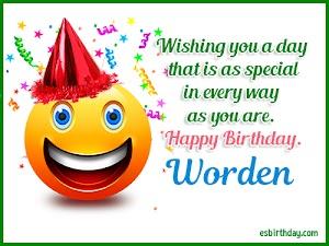 Happy Birthday Worden