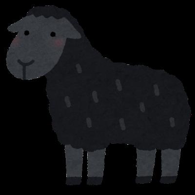 黒い羊のイラスト