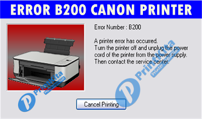 How to fix error B200 Canon Printer