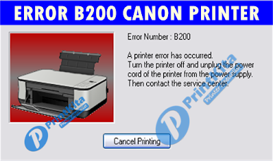 How to fix support code B200 Canon Printer
