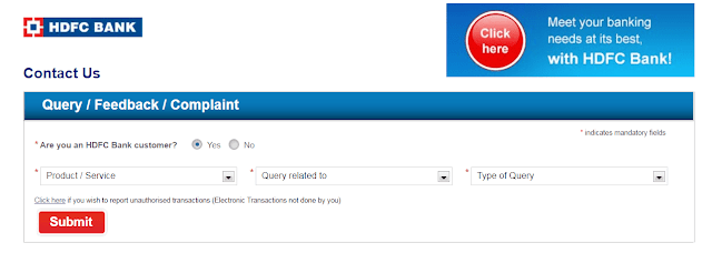 HDFC Customer Care Number