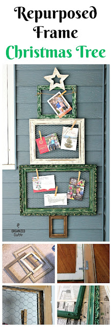 Thrift Shop Picture Frame Christmas Tree organizedclutter.net