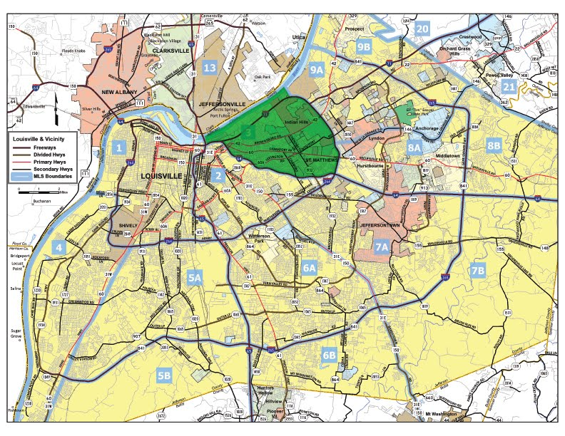 map to kentucky
