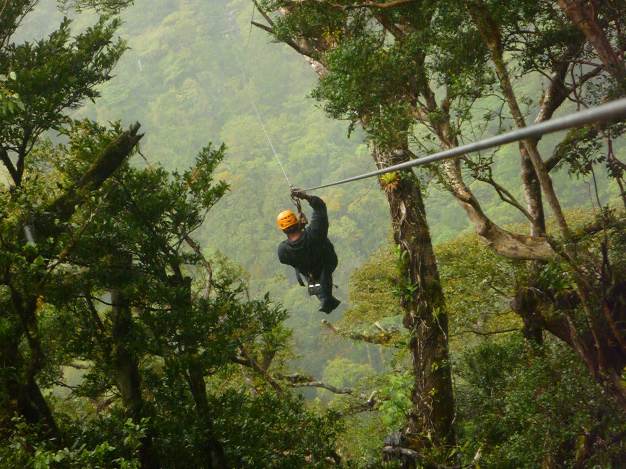 Экстремальный Зиплайн в Монтеверде, Коста-Рика