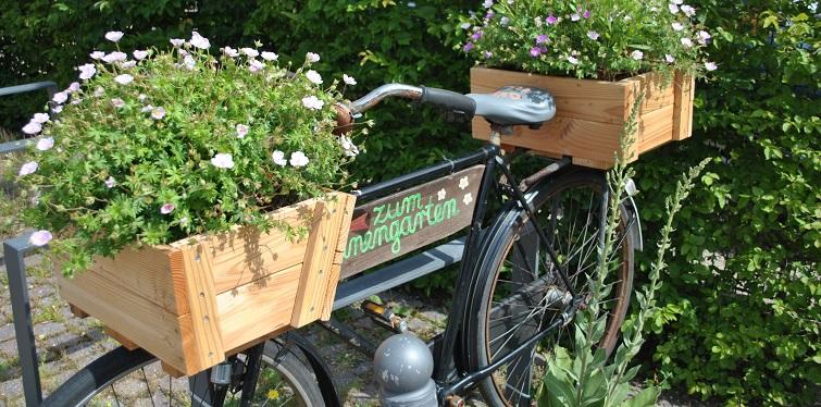 Infotafel am Fahrrad