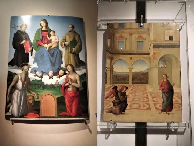 Pala Tezi e Annunciazione del Perugino