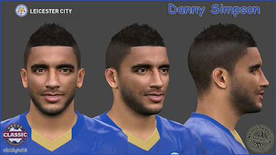 PES 2016 Danny Simpson (Leicester City) Face by SantanAji