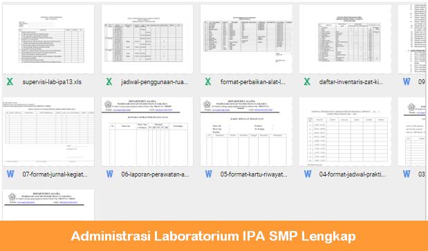 Administrasi Laboratorium IPA SMP Lengkap