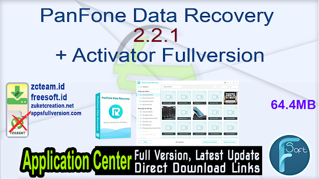 PanFone Data Recovery 2.2.1 + Activator Fullversion