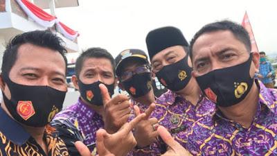 Kades se-Kecamatan Mauk Kompak Sambut Kedatangan Para Petinggi Negara