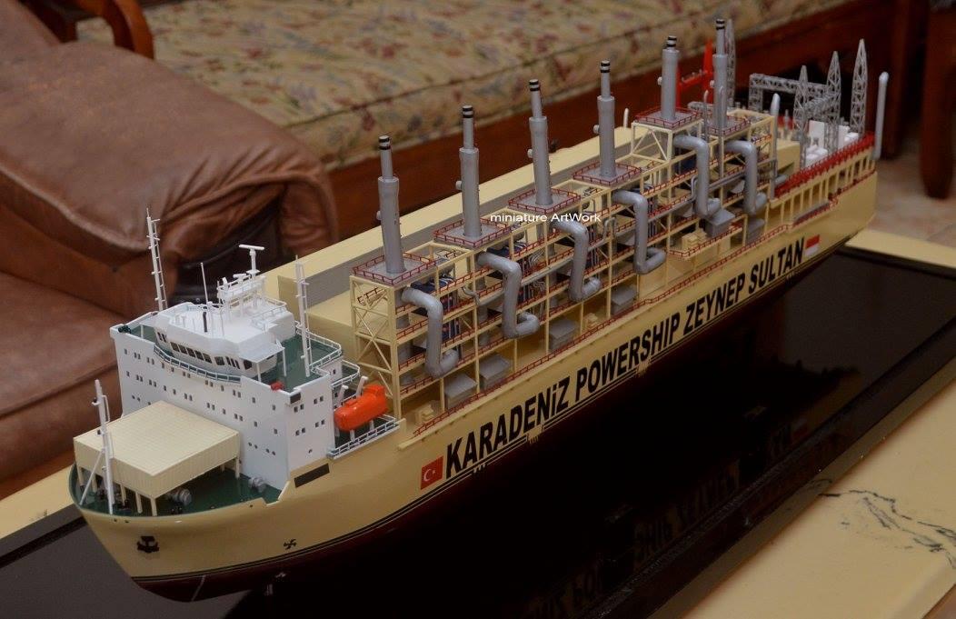 desain sketsa maket miniatur kapal karadeniz kar powership zeynep sultan power station vessel terbaik
