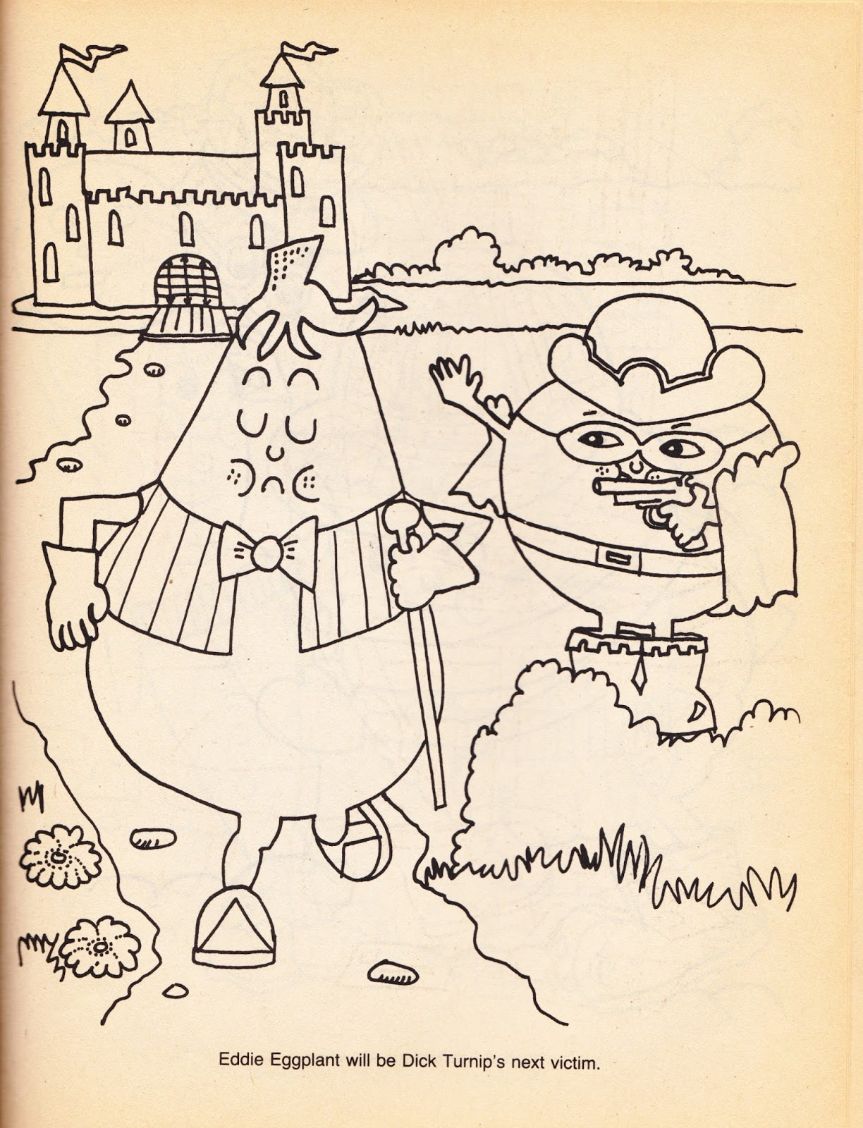 The coloring book of physics - Dick Turnip Is Going To Straight Up Murder Eddie Eggplant Wow Just Wow Thanks Munch Bunch For Reviving My Childhood Fear Of Turnips