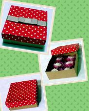 caixas poa vermelhas