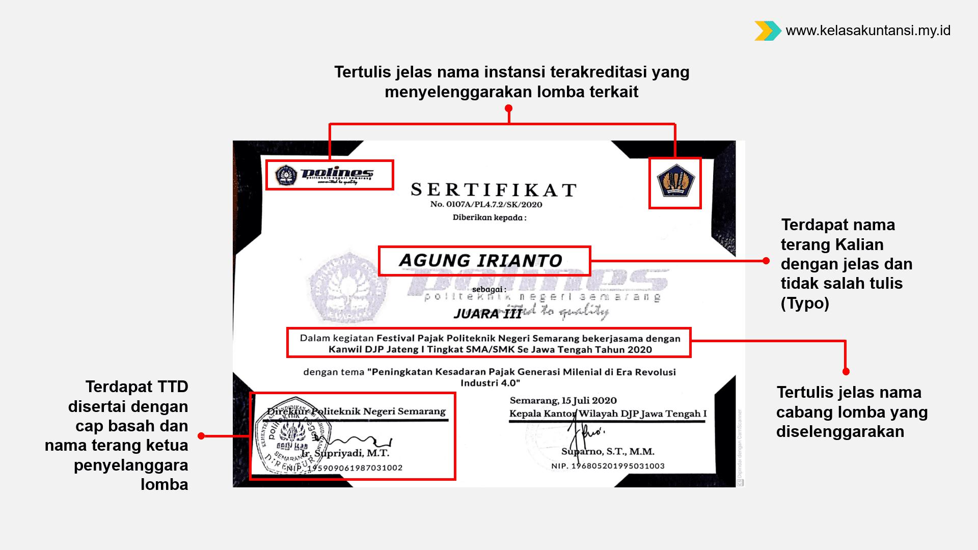 Kriteria Sertifikat atau Piagam SNMPTN yang Qualified