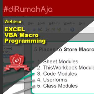 Microsoft Excel VBA Macro - WEBINAR