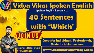 40 Sentences with 'Which'
