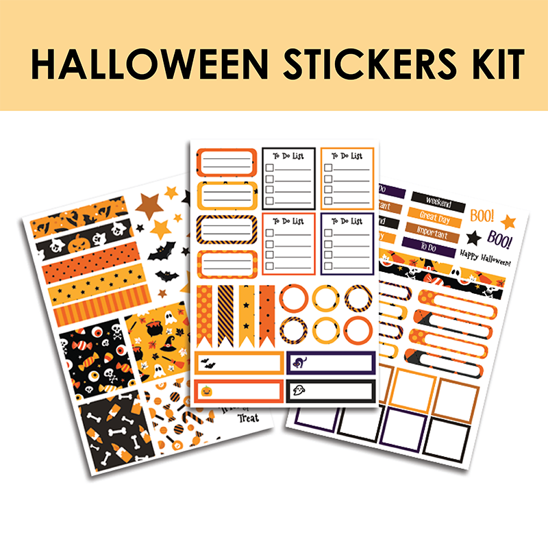 Halloween Stickers Kit!