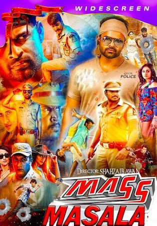 Poster Of Mass Masala In Hindi Dubbed 300MB Compressed Small Size Pc Movie Free Download Only At worldfree4u.com