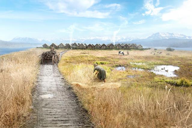 Bronze Age village found under Swiss lake