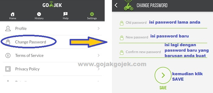 cara ubah password gojek, cara mengubah password gojek, cara ganti password gojek, cara mengganti password gojek, cara ubah password akun gojek, cara ganti password akun gojek