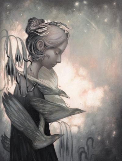 Amy Sol, imagenes de soledad femenina bonitas, rostros tristes, hermosas hadas del bosque surrealista, imagenes chidas de arte inspirador