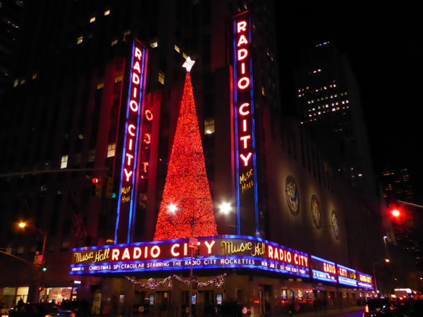Festive Radio City Music Hall NYC