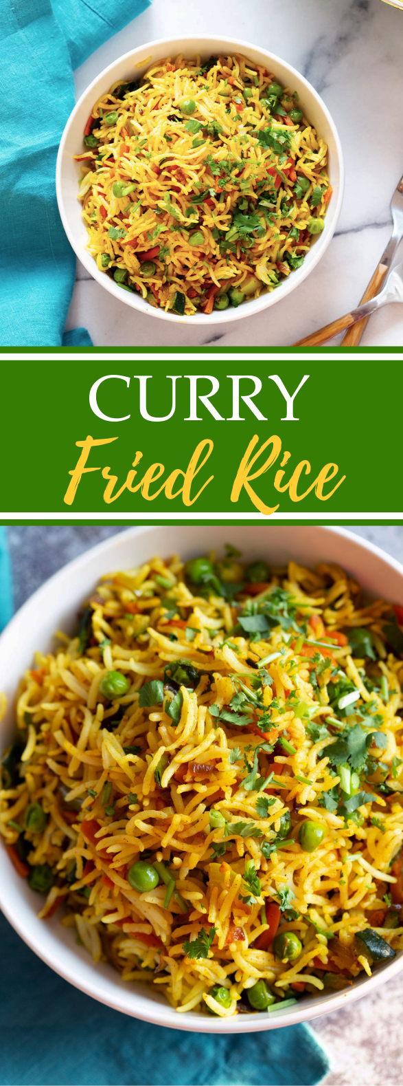 Curry Fried Rice #vegetarian #vegan