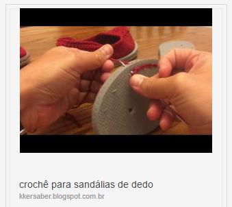 Crocheting onto flip flops ( crochê para  sandálias de dedo)