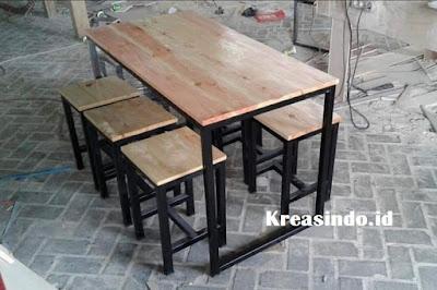 Harga Jasa Pembuatan Meja Kafe Rangka Besi