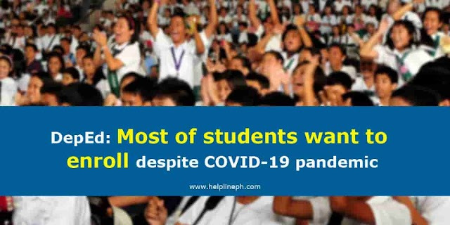 DepEd: Most of students want to enroll despite COVID-19 pandemic