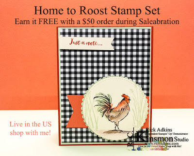 Home to Roost, Saleabration, Watercolor Pencils, Stampin' Up!, Rick Adkins