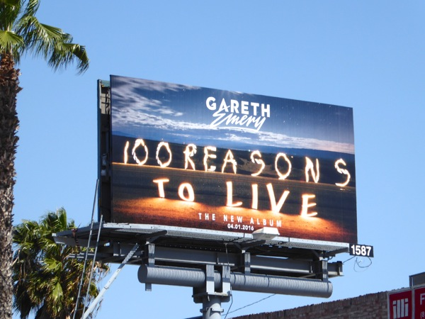 Gareth Emery 100 reasons to live album billboard
