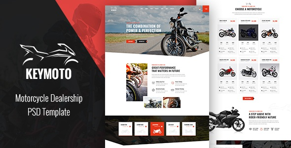 Best Motorcycle PSD Template