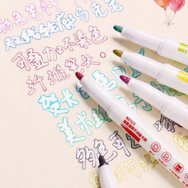 Double Lines Contour Color Art Marker Pens For DIY Scrapbooking