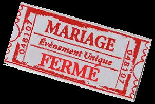 Ticket mariage