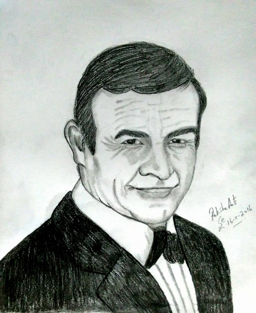PENCIL DRAWING - SEAN CONNERY
