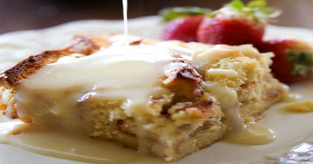 Bread Pudding With Vanilla Cream Sauce Recipe