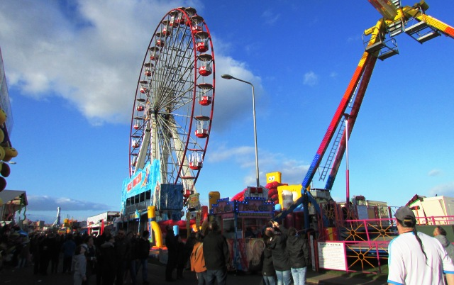 A big wheel at the fairground