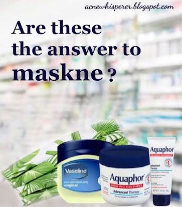 """Lining face masks with lubricating products may not be the best way to prevent mask related breakouts, i.e. """"maskne"""".  Find out more on the AcneWhisperer Blog."""