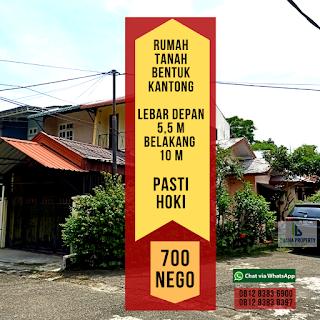 Jual Rumah Murah Bentuk Kantong Pasti Bawa Rejeki Di Jl Karya Wisata Ujung Medan Johor Sumatera Utara