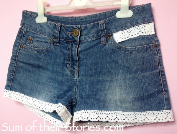Make your ownLace Trimmed Cut Off Jean Shorts