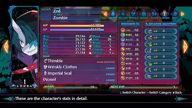 review demo disgaea 6 defiance of destiny switch stats zed