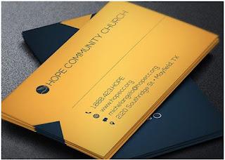 visiting card design sample psd free download