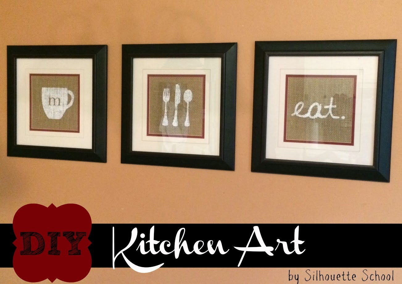 Kitchen art, DIY, do it yourself, Silhouette tutorial, Silhouette Studio