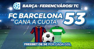 paston megacuota Barcelona vs Ferencváros 20-10-2020