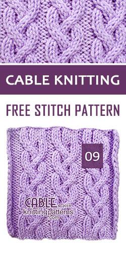 Cable Knitting Free Stitch Pattern 09