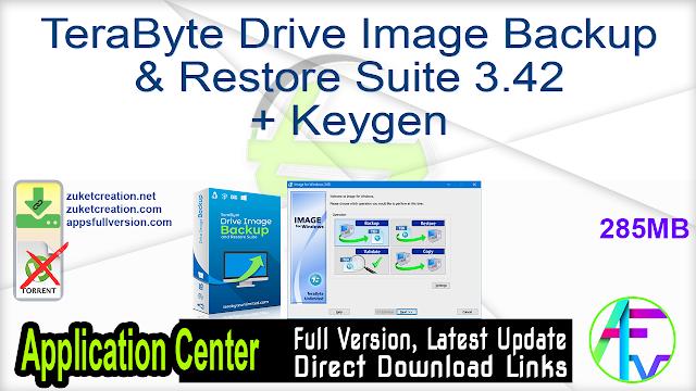 TeraByte Drive Image Backup & Restore Suite 3.42 + Keygen