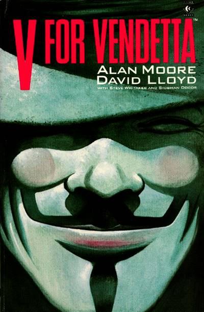 Portada de V De Vendetta, el cómic