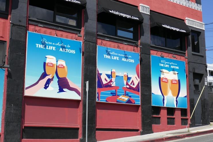Life Artois Stella Artois billboards